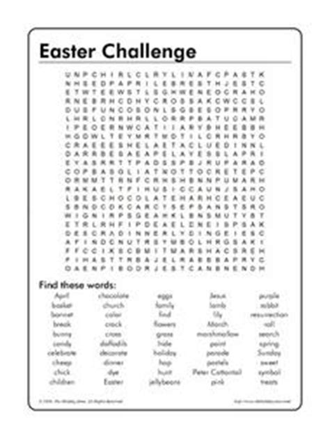 8th grade word search puzzles easter challenge word search 4th 8th grade worksheet