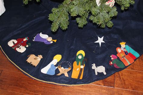 1000 images about nativity tree skirts on pinterest