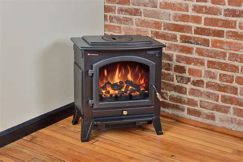 comfort smart vermont black electric fireplace stove with