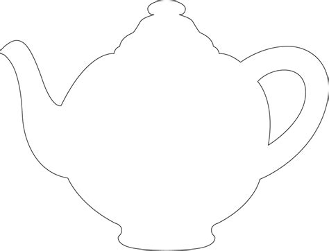 free printable teapot templates tea pot template programming games pinterest cakes