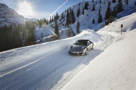 porsche 911 snow porsche 911 double driving fun even in snow and ice