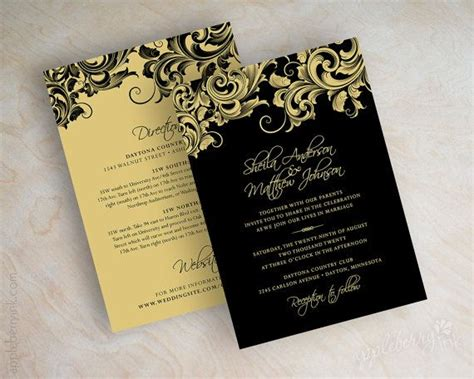 paper invitation templates gold wedding invitation paper gold 2083584 weddbook
