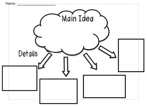 idea organizer primary pals main idea and detail