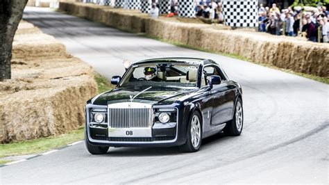 roll royce wood rolls royce sweptail at 2017 goodwood festival of speed