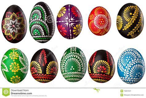 decorative easter eggs collection of decorative easter eggs stock image image