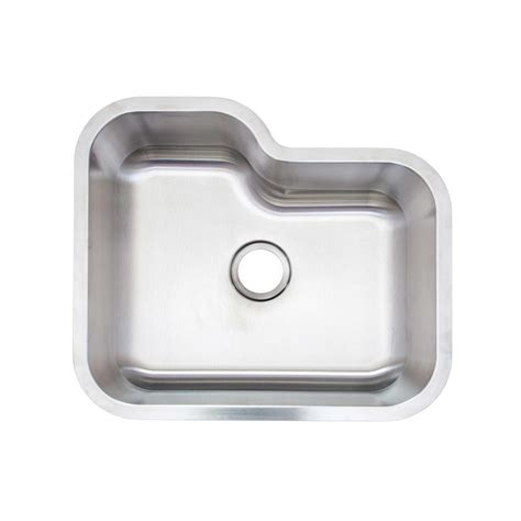 glacier bay aio undermount stainless steel 24 in single