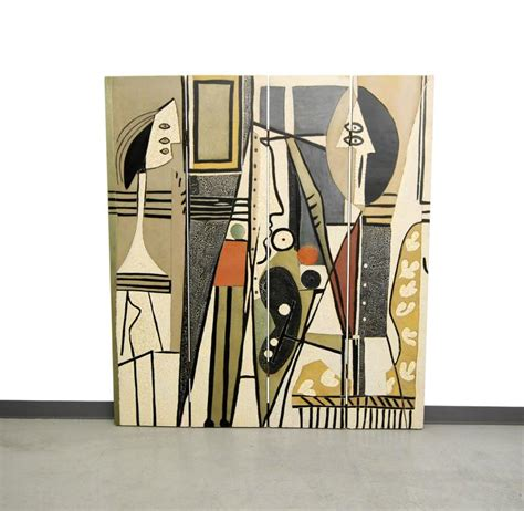 pablo picasso style pablo picasso style quot painter and model quot folding four panel
