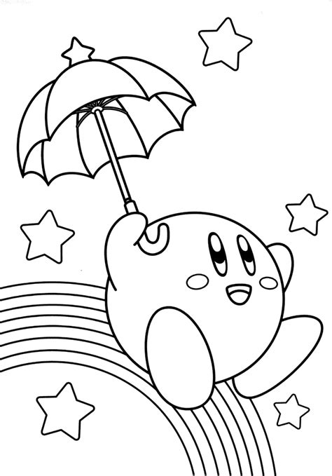 Kirby Coloring Pages by Kirby Coloring Pages Coloringpagesabc