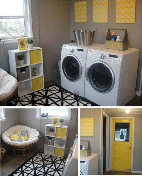 Gray Yellow Laundry Room Omg This Is Perfect For My Yellow Laundry