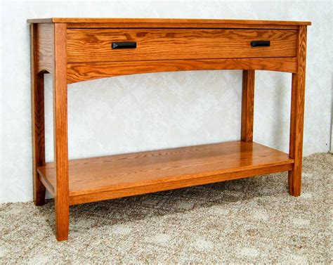 mission style sofa table de vries woodcrafters