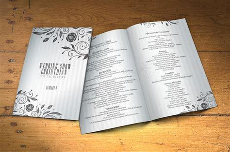 Wedding Program 2 Sides Psd Template Brochure Templates On Creative Market Creative Wedding Program Templates