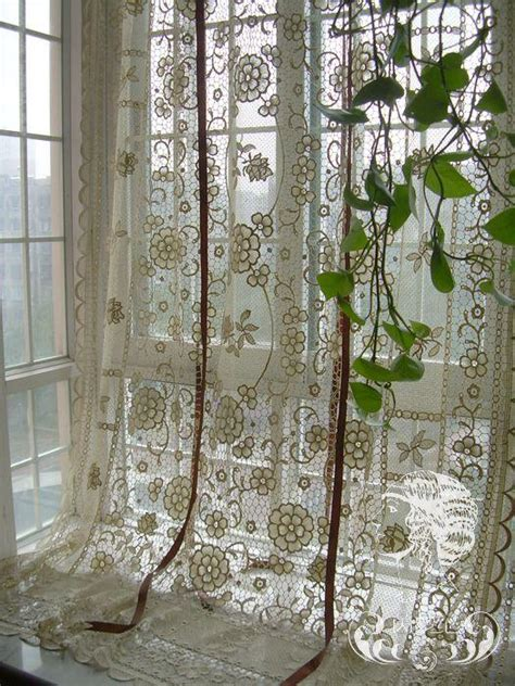 french country cafe curtains french country hand crochet lace balloon shade sheer cafe