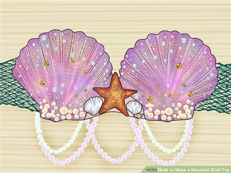 Mermaid Shell how to make a mermaid shell top with pictures wikihow