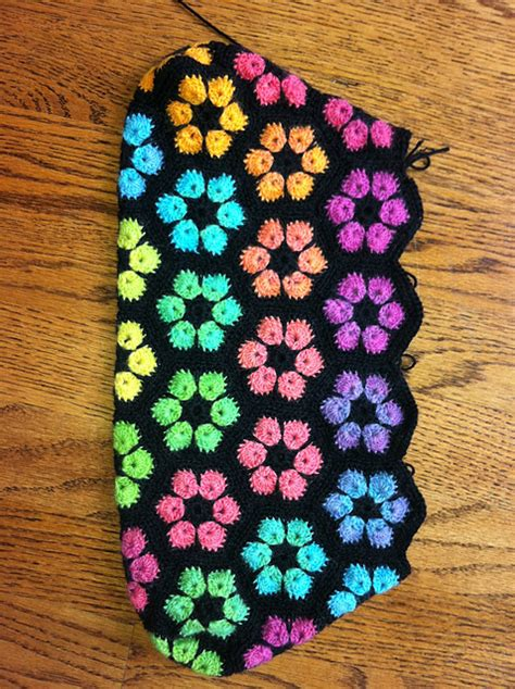 pattern african flower crochet ravelry project gallery for african flower hexagon