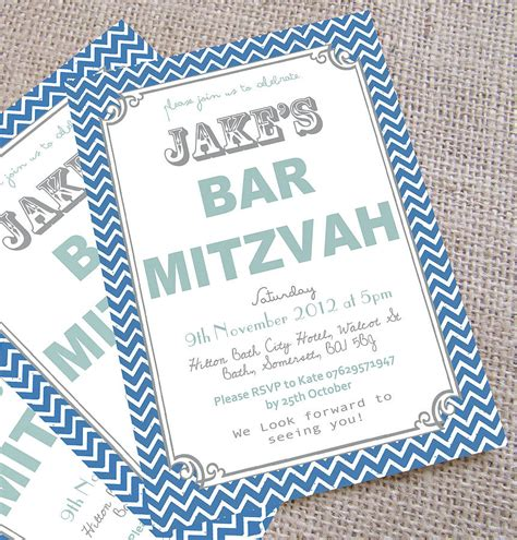 bar mitzvah invitations templates personalised bar mitzvah invitations by precious