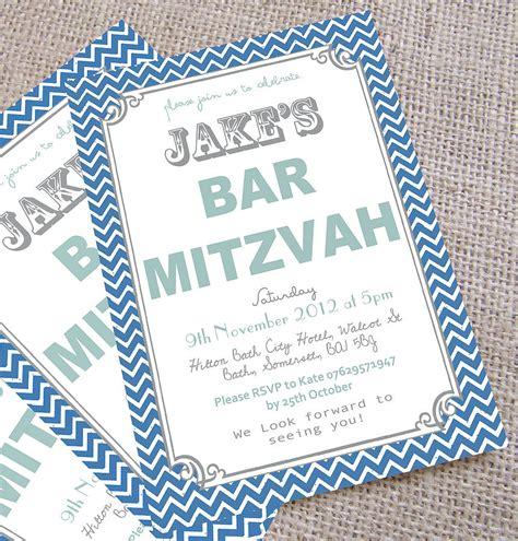 bar mitzvah invitations templates personalised bar mitzvah invitations by precious