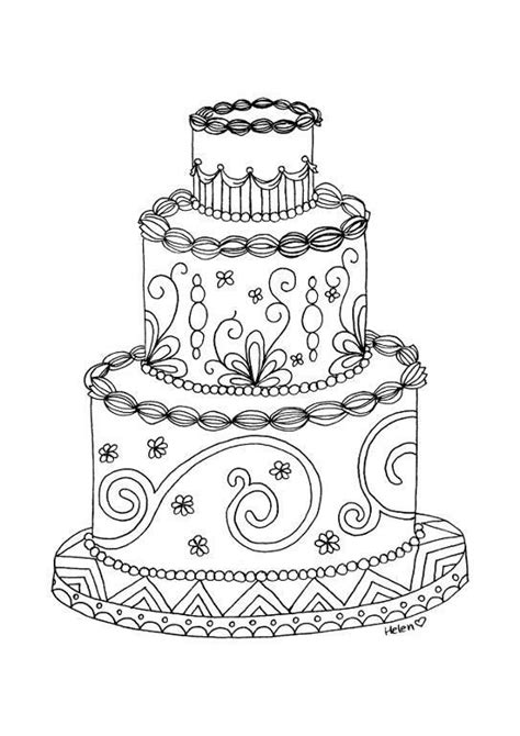cake coloring pages for adults 8 name paper crafts wedding cake adult coloring page