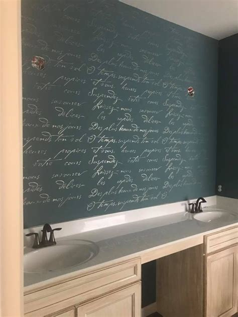 bathroom wall poetry 1000 ideas about bathroom accent wall on pinterest half