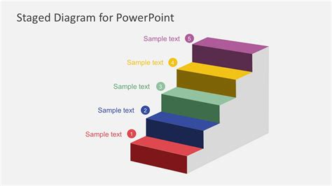 diagram steps free staged diagram powerpoint template