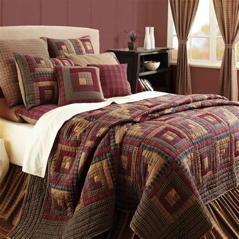 oversized king comforter dimensions details about burgundy lodge log cabin block oversized