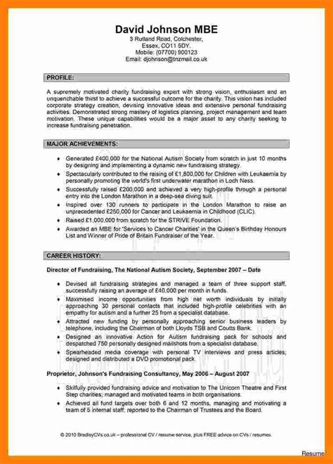 sample profile for resume example of a career summary or a career