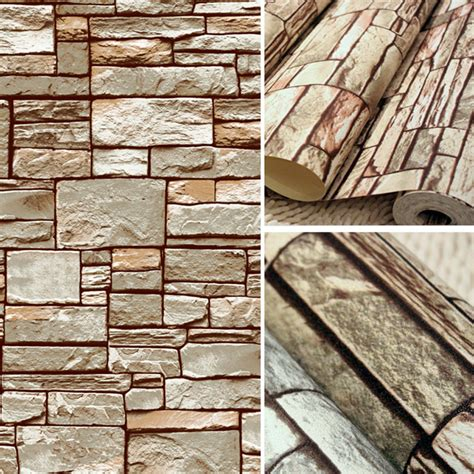 wallpaper 3d stone great wall brick wall background wallpaper grey for living