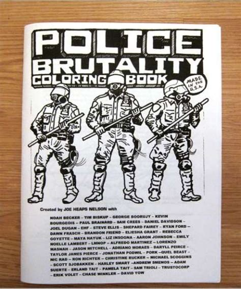 brutality books colorful cop violence books brutality coloring book
