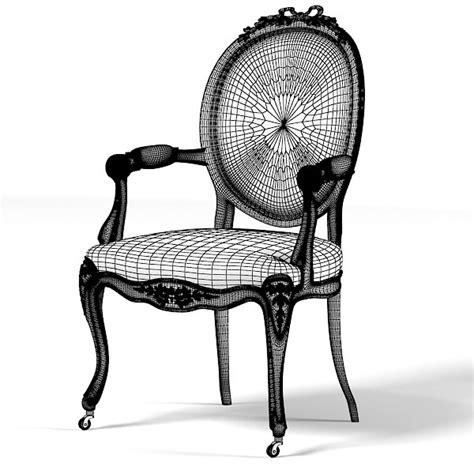 nursing armchair versailles nursing armchair 3d obj