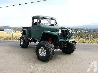 willys jeep truck lifted 1962 willys base overland custom ratrod lifted 4x4 truck
