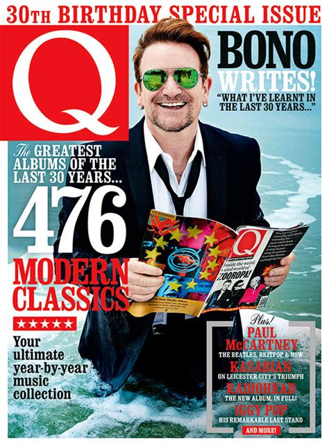 Bono Magazine Cover 2 bono on cover of q special issue