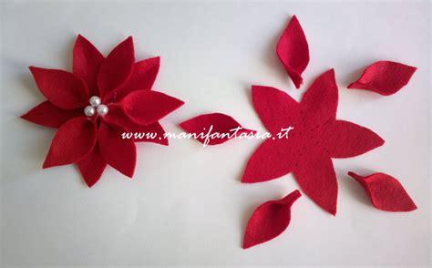 fiori di pannolenci come farli stelle natalizie pannolenci tutorial manifantasia