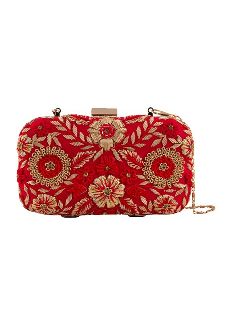 Floral Embroidered Clutch the purple sack gorgeous floral embroidered clutch