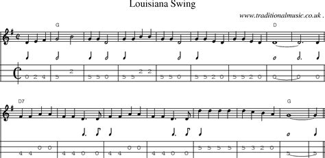 louisiana swing american old time music scores and tabs for mandolin