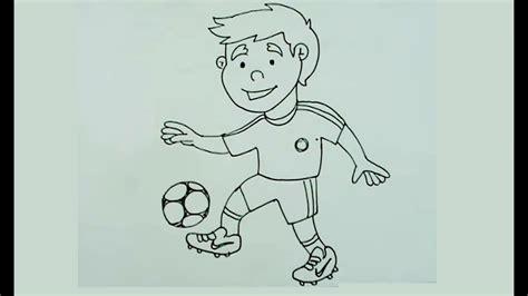 imagenes de niños jugando futbol para dibujar c 243 mo dibujar paso a paso un ni 241 o jugando f 250 tbol youtube