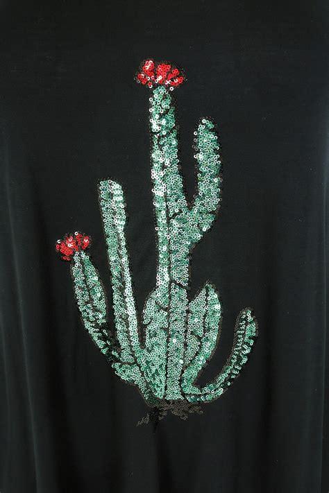 Embellisments Ukuran 16 7 X 18 5 Kode 14 2019 Baby Set black jersey vest top with cactus sequin embellishment plus size 16 to 36