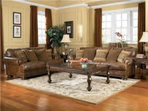 leather living room furniture sets ashley furniture ralston teak living room set 91500 leather home interior design ideashome