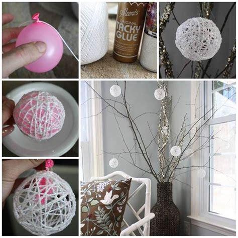 creative ideas creative ideas diy glittery snowball christmas ornaments
