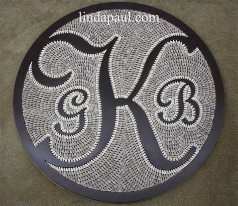 monogram initials family crest custom backsplash medallion