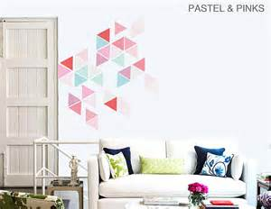 Wall Stickers Large large geometric triangle vinyl wall stickers contemporary wall