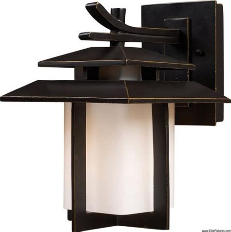 Asian Outdoor Lighting Elk Lighting 42170 1 1 Light Outdoor Wall Sconce Kanso Collection