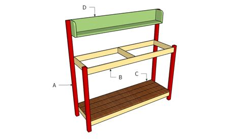 how to bench how to build a garden work bench howtospecialist how
