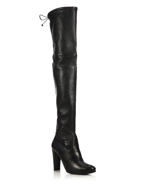 stuart weitzman the knee boots stuart weitzman highland leather the knee boots in