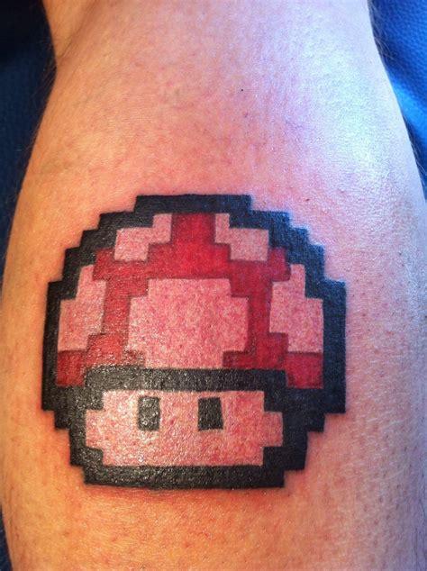 mario mushroom tattoo mario bros powerup by danny theone