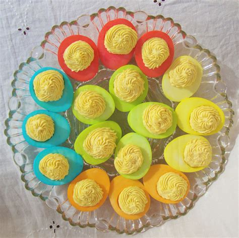 Decorated Deviled Eggs For Easter by Really Really Rainbow Food Food Galleries Paste