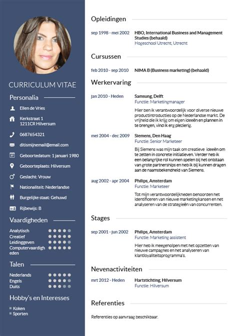 cv voorbeeld design pinterest cv pin voorbeeld cv downloaden on pinterest