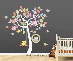 Nursery Owl Wall Decals Nursery Wall Decal Owl Wall Decal Baby By Walldecalsource
