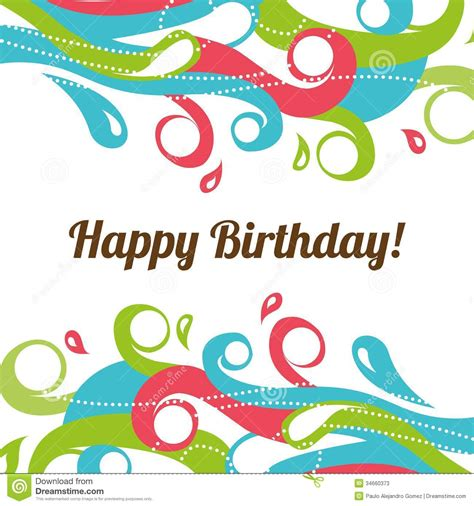 happy birthday background design vector happy birthday stock vector image of happiness abstract