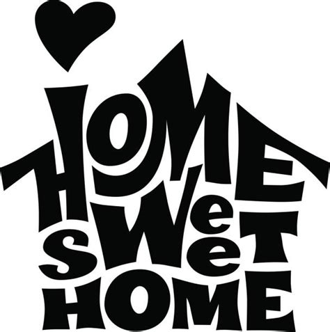 home sweet home illustrations royalty  vector