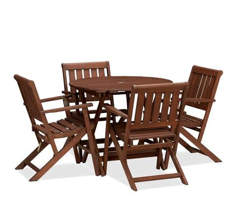 pottery barn bistro table chatham folding bistro table armchair set