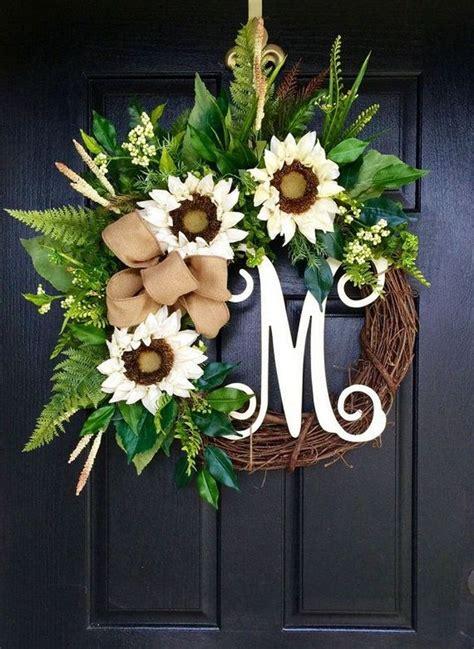 nice summer wreath ideas  front door summer door